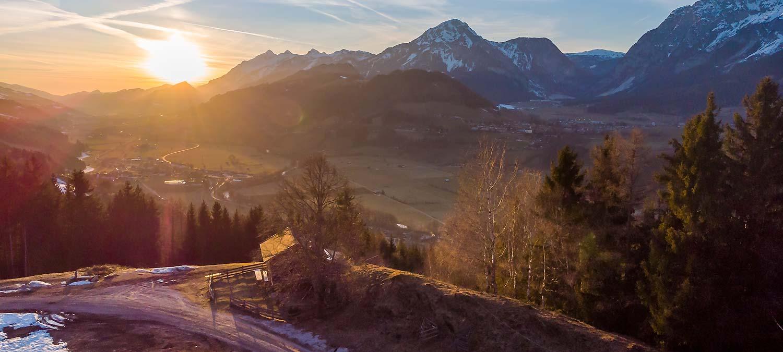 Gelsenberg, Abendstimmung, Sonnenuntergang, Sonne, Luftaufnahme